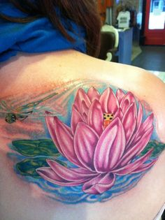 Water Lily Tattoo for my girl @michele luna