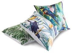 Excited to share this item from my #etsy shop: Tropical bird cushions cover, toucan cushion, velvet jungle print cushion, bird print cushion, velvet cushion cover, bird print cushion White Cushion Covers, White Cushions, Printed Cushions, Velvet Cushions, Living Room Cushions, White Velvet, Jungle Print, Tropical Birds, Cover Size
