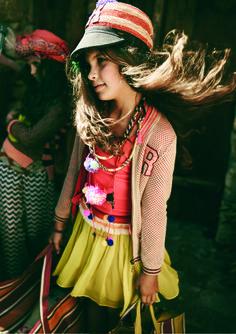 Flowing neon crepe skirt from Scotch Soda Fashion Kids, Little Girl Fashion, Unique Fashion, Style Fashion, Little Fashionista, Look Girl, My Girl, Amusement Enfants, Tween Mode