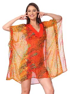 Lightweight Chiffon Loose Kimono Beachwear Swimwear Swimsuit Bikini Cover up 4X ** This is an Amazon Affiliate link. Continue to the product at the image link.