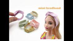 DIY Miniature Doll Mini Headband - Very Easy! Barbie Style, Barbie Kleidungsmuster, Barbie Dolls Diy, Barbie Doll House, Diy Doll, Sewing Barbie Clothes, Barbie Sewing Patterns, Accessoires Barbie, Diy Barbie Furniture