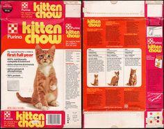 Purina Kitten Chow pet food box - 1977 | Flickr - Photo Sharing!