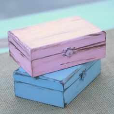 Custom You Pick The Color Jewelry Box by braggingbags on Etsy, $22.50