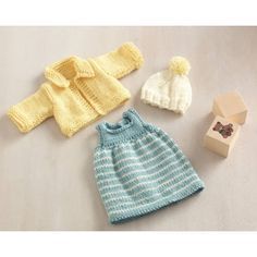 Olivia Doll Outfit Dress Jacket and Hat Pattern (Knit) - Lion Brand Yarn