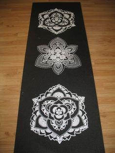 Mandala Sunset Lotus Yoga Mat by LuminousFlower on Etsy