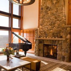 Stone Fireplaces Design Ideas, Pictures, Remodel, and Decor
