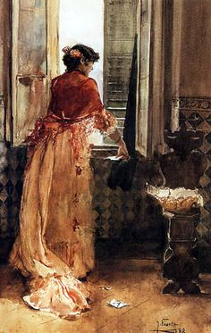 Joaquin Sorolla: Clotilde García del Castillo by the window, the artist's wife, 1888 Spanish Painters, Spanish Artists, Art And Illustration, Illustrations, Figure Painting, Painting & Drawing, Figurative Kunst, Love Art, Female Art