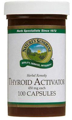 Nature's Sunshine Thyroid Activator 100 Capsules from Superior Supplements Natures Sunshine, Thyroid Gland, Autoimmune, Herbal Remedies, Herbalism, The 100, Herbs, Health, Herbal Medicine