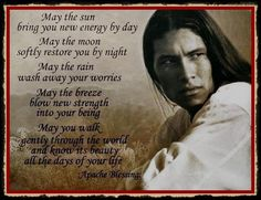Another love of mine, because of my Cherokee heritage, are Native American Indians...Isn't this a fascinating face and I love this prayer too. I actually drew him because that stare just draws you to him!
