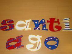 Decoracion de letras béisbol. Hechas por Lisbette Monasterios @creativelis