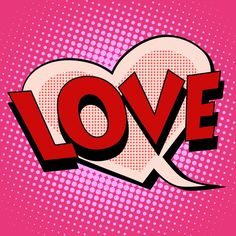Pop art love Stretched Canvas 2213 by Wall Art Prints Fiesta Pop Art, Comic Bubble, Pop Art Fashion, Pop Art Wallpaper, Pop Art Design, Retro Pop, Art Prints For Sale, Graffiti Art, Canvas Art Prints