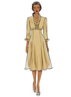 B5917 | Misses' Ruffle-Neck Dresses Sewing Pattern | Butterick Patterns
