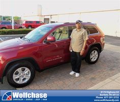 #HappyAnniversary to John Johnson on your 2014 #Jeep #Grand Cherokee from Luster Adams at Wolfchase Chrysler Jeep Dodge!