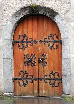 Old Church Doors   This is the doorway of an 18th century church in Bergen.