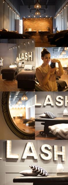 Lash extension studion || amazing lighting || Marquee lights  Lashes for Days: My L.Lash Bar Review | Northern Style Exposure || Nail Design, Nail Art, Nail Salon, Irvine, Newport Beach