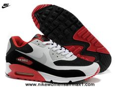 Buy Red White Black Grey Nike Air Max 90 Hyperfuse Mens Trainers For Sale