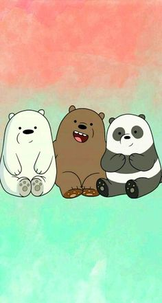 "We bear bears ""panda, grizzly, polar🐻 🐼 Cute Panda Wallpaper, Cartoon Wallpaper Iphone, Disney Phone Wallpaper, Bear Wallpaper, Kawaii Wallpaper, Cute Wallpaper Backgrounds, Galaxy Wallpaper, We Bare Bears Wallpapers, Panda Wallpapers"