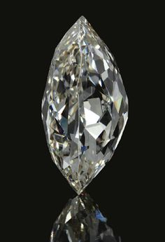 The Beau Sancy Diamond (side view), a 34.98 carat double rose-cut