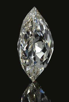 The Beau Sancy Diamond (side view), a 34.98 carat double rose-cut