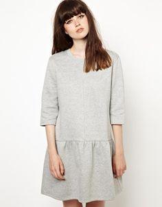 Bild 1 von The WhitePepper – Jerseykleid mit tief sitzender Taille