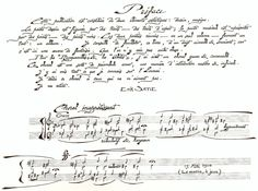 Erik Satie : un Socrate en totem. Erik Satie, une page du manuscrit de Sports et divertissements (1914)