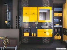 idee bagno con giallo
