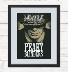 Personalised Peaky Blinders Framed Print. Ideal for a birthday, wedding, anniversary, new home gift. Can be personalised to any wording you like.