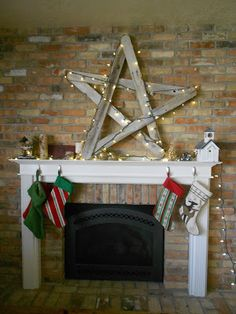 my kids eat off the floor: oversized rustic Christmas star