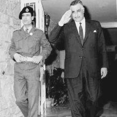 الزعيم عبد الناصر و العقيد معمر القذافي