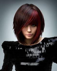Beautiful Hair Color Ideas 2012 - Are you lusting after a salon-perfect new hairdo? Check out our glam selection of beautiful hair color ideas for Opt for a voguish shade which grants all your admirers with a memorable visual experience. Medium Hair Styles, Short Hair Styles, Hair Medium, Red Bob Hair, Corte Y Color, Emo Hair, Blonde Hair, Curly Hair, Goth Hair