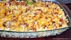 Yum! Bacon ranch mac and cheese are you serious YUM
