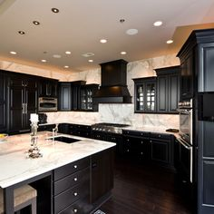 Moon White Granite, Dark Kitchen Cabinets. | Kitchen Ideas | Pinterest | Dark  Kitchen Cabinets, White Granite And Granite
