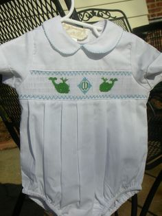 2ee1769a smocked white bUBBLE | Boy's monogrammed smocked bubble | cutest kids  clothes! Little Boy Outfits