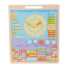 BigJigs Vremea - Calendar magnetic in limba engleza Educational Activities For Toddlers, Educational Games, Craft Activities For Kids, Kids Learning, Weather Calendar, Calendar Time, Kids Calendar, Diy Quiet Books, Magnetic Calendar