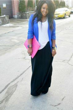 i wonder if that bright pink maxi skirt will work...