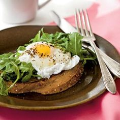 Poached Eggs with Buttery Multigrain Toast | CookingLight.com