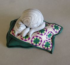 Gray tabby cat on rolling star quilt pattern - find in my etsy store