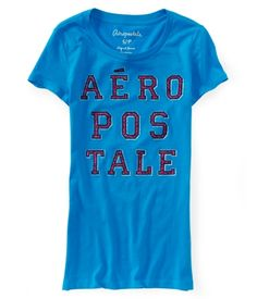Aero Stacked Shimmer Graphic T