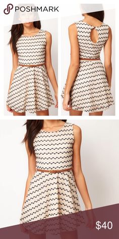 River Island Zig Zag Crochet Skater Dress w e l c o m e  t o  m y  c l o s e t   Crochet and sequin fit and flared skater dress from River Island, purchased from ASOS.       EUC - worn 2x. Pics are from ASOS.  Reasonable offers welcomed.  Question/unsure? Comment below.   ❌TRADES ❌LOWBALLING ❌REFUNDS   Thank you for visiting my closet💕 ASOS Dresses Mini