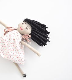 Handmade Cloth Doll by WiseSewcialTies