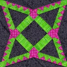 Scrappy Nine Patch Mini Quilt | FaveQuilts.com