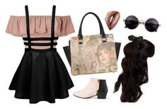 """""""Le Rêve"""" by deadlynight ❤ liked on Polyvore featuring Miss Selfridge, Nine to Five and Johnny Loves Rosie"""