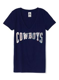 PINK Dallas Cowboys Bling V-Neck Tee V Neck Tee 1059cf7b4