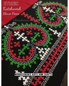 All new Stock of Kutchwork Blouse Pieces. In Stock and Will he Uploaded to the Dhinakaran's website this Week! Can't wait till they get… Embroidery Neck Designs, Embroidery Stitches, Kutch Work Saree, Yellow Kurti, Kutch Work Designs, Mirror Work, Embroidery Techniques, Sarees, Needlework
