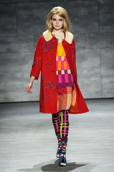 Libertine Fall 2014 Ready-to-Wear Runway - Libertine Ready-to-Wear Collection – pattern on pattern mix; bold geometric prints; retro vintage style