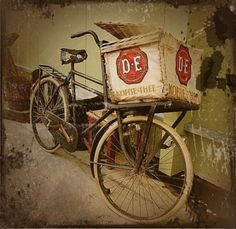 Old Dutch transport bike from Douwe Egberts coffee