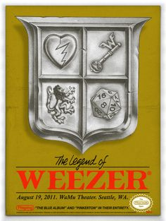 Weezer concert poster by Jon Smith - Just Plain Awesome! Omg Posters, Band Posters, Cd Cover Art, Vintage Music Posters, Weezer, Poster Prints, Art Prints, Music Images, Concert Posters