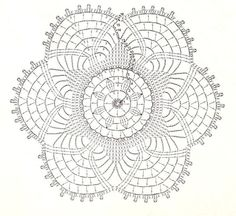 Crochet doilies with diagrams (instructions) Filet Crochet, Mandala Au Crochet, Crochet Doily Diagram, Crochet Diy, Crochet Circles, Crochet Doily Patterns, Crochet Chart, Crochet Home, Thread Crochet