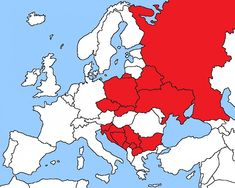 Map of Slavic Countries, strange how they are separated by Romania etc