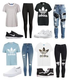 """Untitled #19"" by torimiller-ii on Polyvore featuring adidas Originals, River Island, NIKE, Vans and AMIRI"